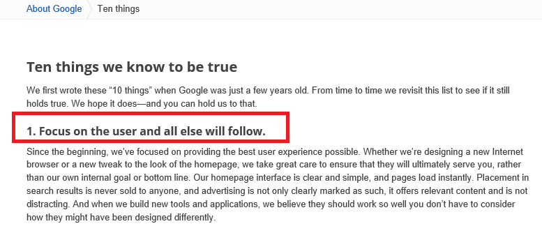 SEO and User Experiences